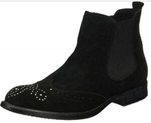 BNIB s.Oliver Women's 25449 Black Chelsea Boots Size 5 Eu 38 Us 7