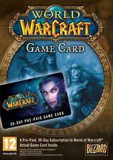 WoW 30 Days GAME CARD-WoW Tarjeta de Juego 30 Días -EU- World Of Warcraft 30Days