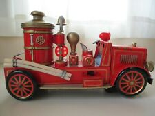 JAPAN MODERN TOYS - F.D. NO. 7 FIRE TRUCK  BATTERY OPERATED TIN TOY TRUCK  WORKS