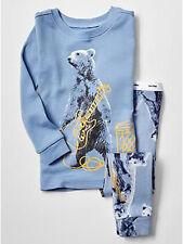 NEW Baby GAP Boys 6-12 mos Polar Bear Cotton 2-Piece Pants Pajamas