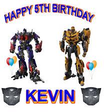 Transformers # 1 - Birthday - Customize - 8 x 10  - T Shirt Iron On