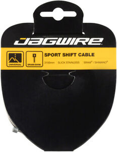 Jagwire Sport Shift Cable - 1.1 x 3100mm, Slick Stainless Steel, For