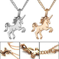 Mythical Magical Unicorn Charm Pendant Necklace Gold / Silver Children's Jewelry