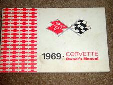 1969 Corvette Factory GM Original Owners Manual w/ Full Corvette News Card Nice