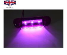 4X 12V 3SMD LED PURPLE SIDE MARKERS LIGHTS LAMPS FOR TRUCK TRAILER VAN BUS LORRY