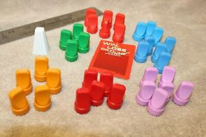 Win Lose or Draw game piece replacement lot 30+ movers markers tokens pawns