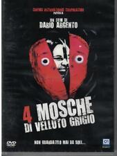 """DARIO ARGENTO dvd """"Quattro mosche di velluto grigio"""" (1972) prima stampa"""
