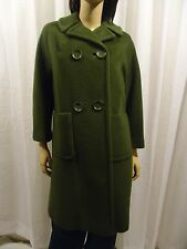 "Vintage""Warren of Stafford"" Womens Fully Lined 100% Pure Wool Coat/Green/sz M"