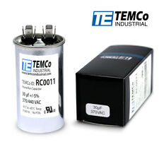 Temco 30 Ufmfd 370 Vac Volts Round Run Capacitor 5060 Hz Lot 1