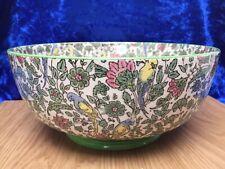 Rare ROYAL DOULTON ''PERSIAN'' Parrots Chintz 9'' Fruit Bowl D3350 c.1912 VGC