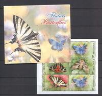 Moldova 2003 Butterflies Minisheet 6 MNH stamps Booklet