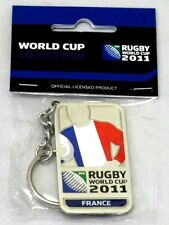 33654 RUGBY WORLD CUP 2011 FRANCE SILVER JERSEY FLAG KEYRING KEY RING