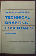 Technical Drafting Essentials 1957 Luzadder Electronics Engineering Blueprints