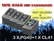 3x PG40 Black 1x CL41 color ink Cartridges for Canon printer