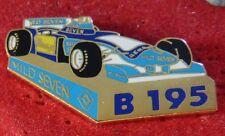 RARE PIN'S F1 FORMULA ONE MILD SEVEN RENAULT BENETTON B 195 BITBURGER EGF MFS
