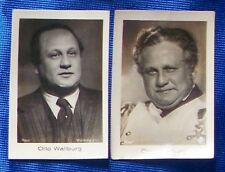 Otto Wallburg 1933 Ramses Film Star Cigarette Cards Lot of 2