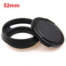 52mm Metal Vented Lens Hood for Leica Summicron M R Voigtlander + Lens cap