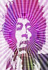 Jimi Hendrix Haze  Retro Print  Poster