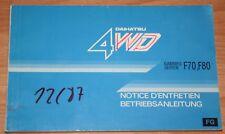 Daihatsu F70 F80 Betriebsanleitung  Betriebsanleitung 87/88