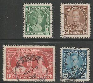 CANADA 1935 #211-14 King George V Silver Jubilee - Fine Used