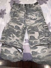 Boys Union Bay Camouflage Cargo Convertible Pants/Shorts. Size 14