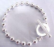 "Bracelet Boule 7"" Long Yba010294001018 New Original Gucci Sterling Silver"