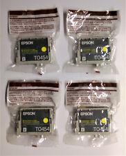 4 X OMBRELLONE EPSON t0454 GIALLO c64 c66 c84 c86 cx3600 cx3650 cx6400 cx6600