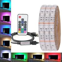 0.5M -5M 5050 RGB LED Strip Waterproof USB LED Light Strips Flexible Tape DC5V