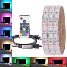 USB 5050 RGB 30Led LED Strip Waterproof Light Strip Flexible Tape DC 5V 0.5m-5m