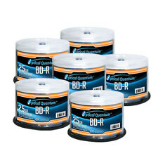 300 OQ 6x 25GB Blu-ray BD-R Glossy White Inkjet HUB Printable OQBDR06GWIP-H-50