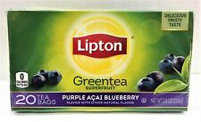 Lipton Green Tea Purple Acai Blueberry 20 Tea Bags 0.8 oz