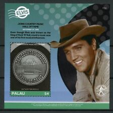 Palau 2017 MNH Elvis Presley Life in Stamps Country Music Hall Fame 1v S/S III