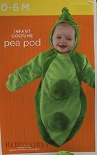 Halloween Infant Pea Pod Bunting Costume Size 0-6 Months up to 25 in 14.5 lbs