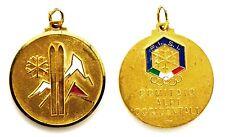 Medaglia Con Vernice F.I.S.I. Comitato Alpi Occidentali Metallo Dorato