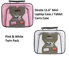 "Dicota Base Mini Netbook Tablet Carry Case Laptop Bag 11.6"" Pink White Twin Pack"