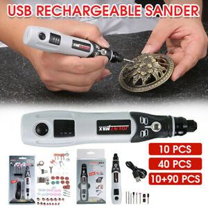 90PCS Mini USB Electric Rotary Grinder Drill Engraving Pen Grinding Tools Set AU