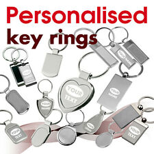 Personalised Keyring engraved with text, name, logo * 07 * GIFT* brithday heart