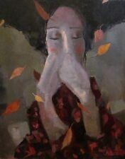 Original Russian oil canvas USSR  fantasy impressionism Painting portrait  2017