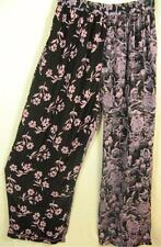 P310~TIENDA HO~BLUE & PINK~Nothing Matches~FLORAL~Relaxed Leg Pants~OS