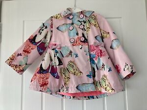 Girls Age 18/24 Months Pink Hooded Jacket With Butterfly Images From TED BAKER