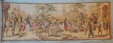 Vintage Belgium Tapestry wall hanging Spanish scene Caballero courting Senoritas