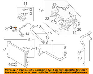 HYUNDAI OEM 02-15 Sonata 2.4L-L4-Radiator Assembly Upper Insulator 253353D000