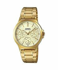 LTP-V300G-9A  Gold Casio Ladies Watches Steel Bands Analog New