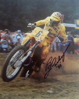 BRAD LACKEY SIGNED AUTOGRAPHED 8x10 PHOTO MOTOCROSS LEGEND CHAMPION BECKETT BAS