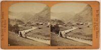 Zermatt Suisse Foto Lamy Stereo PL53L2n9 Vintage Albumina c1865