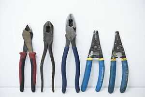 Klein Tools LOT OF Cutters 5Pcs USED REF:0004