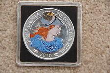 2010 Royal Mint £2 Britannia 1oz Silver Bullion Coin Colour Colored