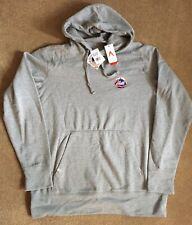 NWT Mens Antigua NY Mets pullover hooded sweatshirt size XL gray