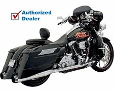 Bassani Chrome Bagger Stepped True Duals Power Curve B1 Exhaust Harley Touring