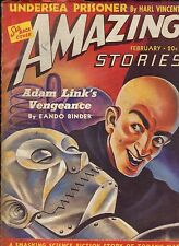 Pulp SI-FI--Amazing Stories--Feb. 1940-----122B